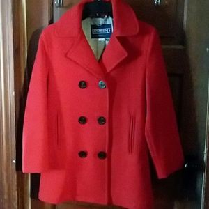 Red Lands End peacoat